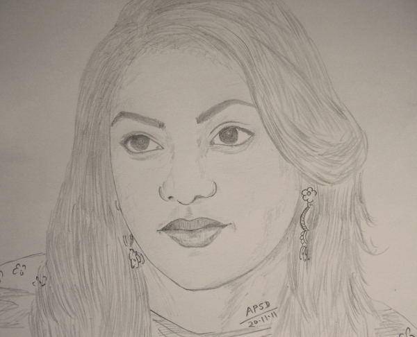 Kajal Pencil Drawing Kajal Aggarwal by Daia